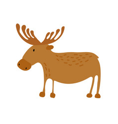 Cute elk scandinavian flat vector