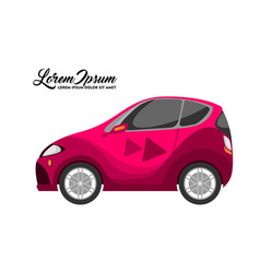 cute of city car design red series vector image