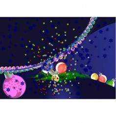 dark blue Christmas background illustrated vector image