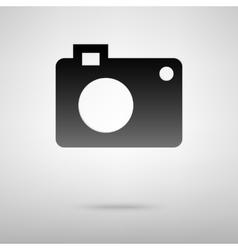 Digital camera black icon vector image