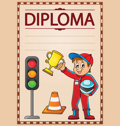 Diploma topic image 5 vector