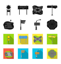 Direction signs and other web icon in blackflet vector