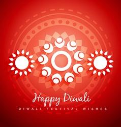 Diwali paisley design vector