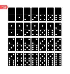 Domino full set realistic vector