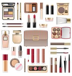 Fall makeup collection vector