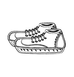 Figure comfortable sneakers fitness vector