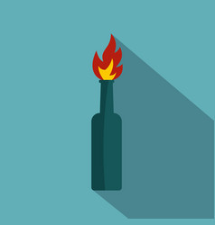 fire bottle icon flat style vector image