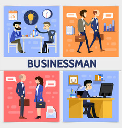 Flat business square concept vector