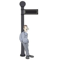 Funny man vector image vector image