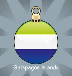 Galapagos islands flag on bulb vector