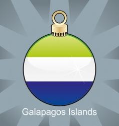 Galapagos islands flag on bulb vector image