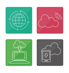Global communication icons design vector