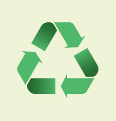 Glyph recycle icon mobius loop recycling sign vector
