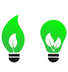 green bulb leaf vector concept vector image