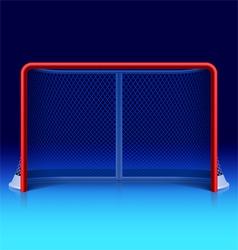 Ice hockey net vector image