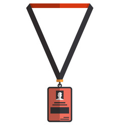 Id badge event card isolated on white vector