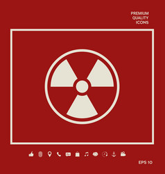 Ionizing radiation icon graphic elements for your vector
