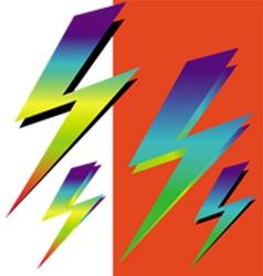 Iridescent sign lightning vector