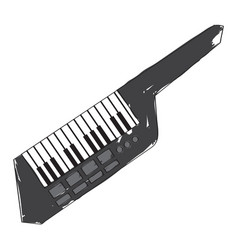 isolated keytar icon musical instrument vector image