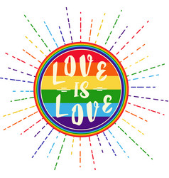 Lgbt rights symbol gay parade slogan vector