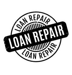 loan repair rubber stamp vector image