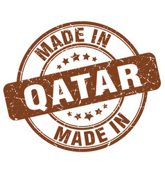 made in qatar vector image