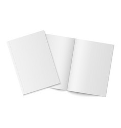 mockup of two thin books with soft cover isolated vector image