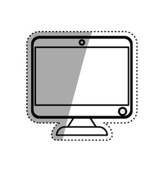 Modern computer screen vector