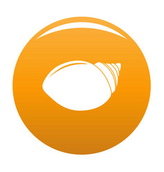 Mollusks shell icon orange vector