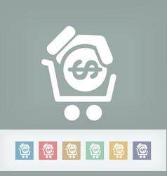 money cart icon vector image