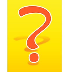 Orange question mark vector