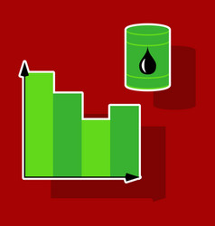 Paper sticker on theme arabic business oil chart vector