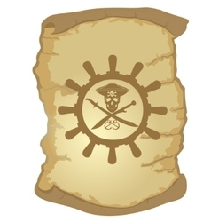 Parchment and the helm of a sailing ship-3 vector