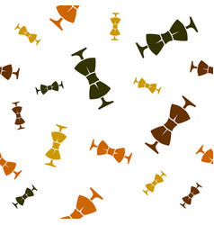 pattern colored bow ties different sizes vector image