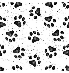 paw dog print vexture vector image