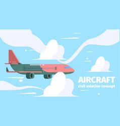 Plane in sky travelling background passenger vector