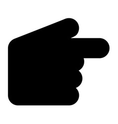 pointer hand the black color icon vector image