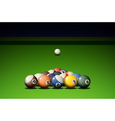 Pool Game vector image
