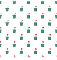 Pot with spade pattern seamless vector