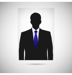 profile picture whit blue tie unknown person vector image