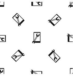 Repaired phone pattern seamless black vector
