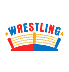 retro emblem for boxing vector image