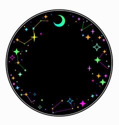 Round ornament multi-colored elements vector
