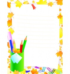 school stationery vector image