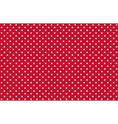 Seamless Dot Pattern White Dots on Red vector image