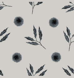seamless pattern with hand drawn stylized chestnut vector image