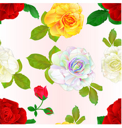 Seamless texture multi colored roses vector
