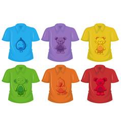 Set different t-shirt vector
