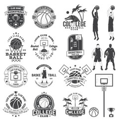 Set of basketball college club badge vector