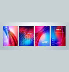 Set of business brochure cover design templates vector